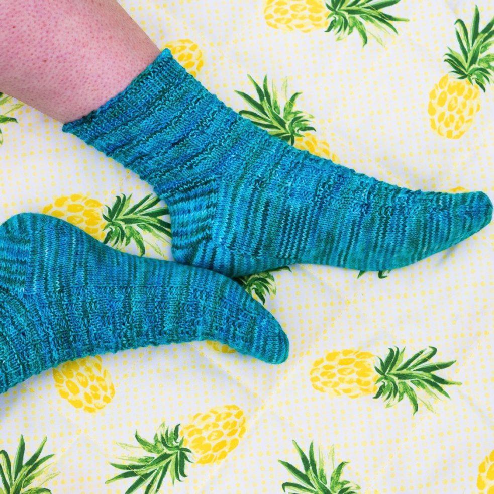 Lickity Split socks from above